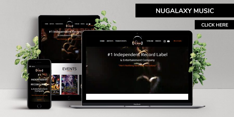 nugalaxy music - WordPress Website Design for Music Company