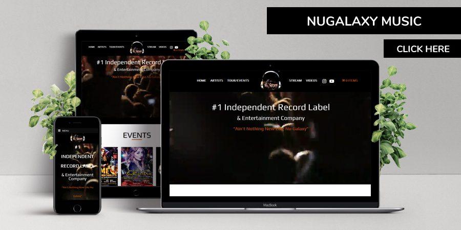 nugalaxy music - WordPress Website Design for Music Company